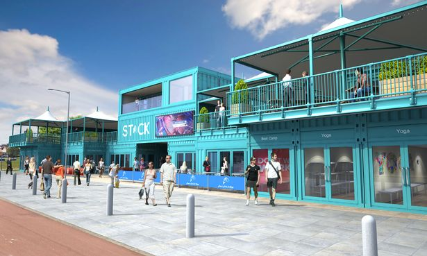 Developers Stack Shipping Container hub on Sunderland seafront