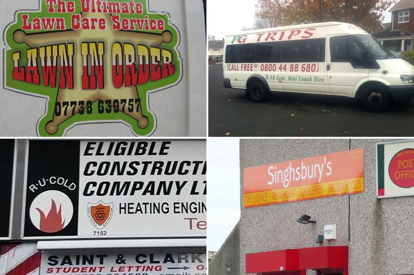 North East's 20 Funniest Business Names